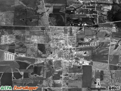 Lowville satellite photo by USGS
