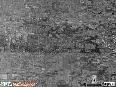 Kentwood satellite photo by USGS