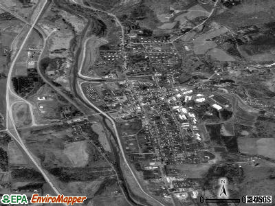 Mansfield satellite photo by USGS