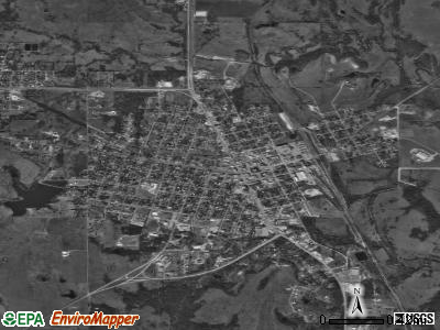 Madill satellite photo by USGS