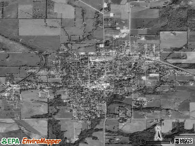 Baldwin City satellite photo by USGS
