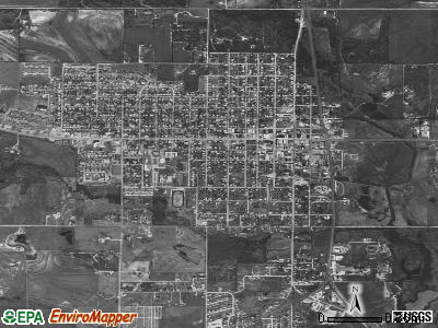 Olney satellite photo by USGS