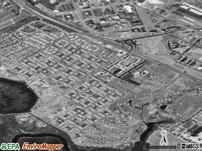 Dover Base Housing satellite photo by USGS