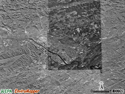 Kingsport satellite photo by USGS