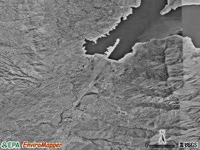 Lake Isabella satellite photo by USGS