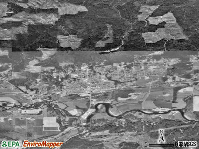 Montesano satellite photo by USGS