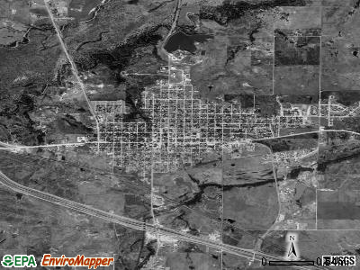 Henrietta satellite photo by USGS