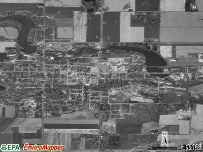 Barron satellite photo by USGS