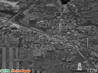 Shelby satellite photo by USGS