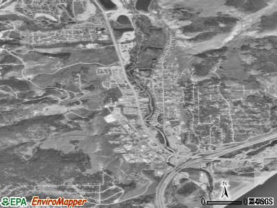 Silverthorne satellite photo by USGS