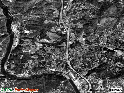 Woodfin satellite photo by USGS