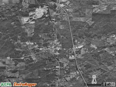 Calera satellite photo by USGS