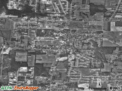 Greentown satellite photo by USGS