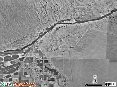 Parker satellite photo by USGS