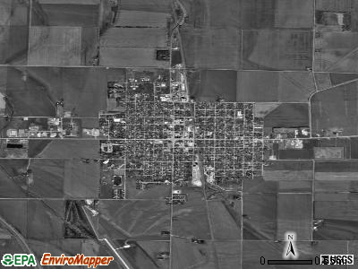 Onawa satellite photo by USGS