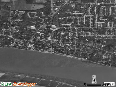 Newburgh satellite photo by USGS