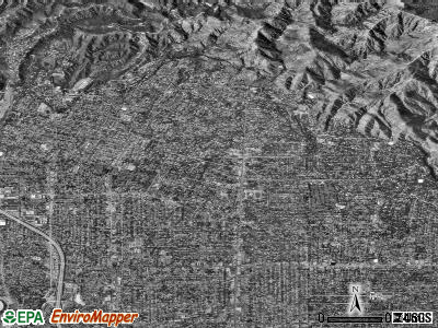 Altadena satellite photo by USGS
