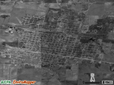 Quanah satellite photo by USGS