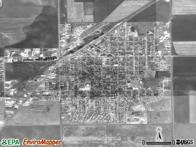 Spearman satellite photo by USGS