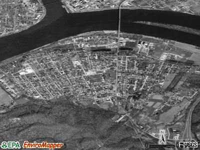 Williamstown satellite photo by USGS