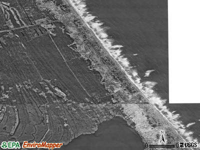 Kitty Hawk satellite photo by USGS