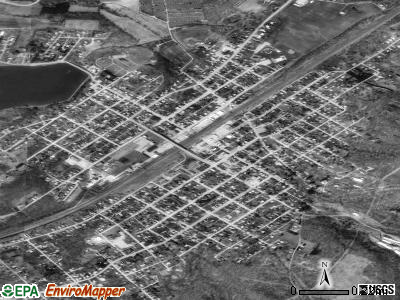 Derry satellite photo by USGS