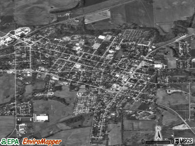 Brownstown satellite photo by USGS