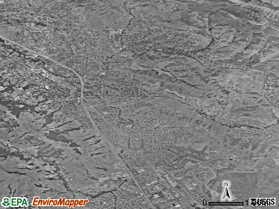 Danville satellite photo by USGS
