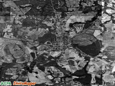 Blackville satellite photo by USGS