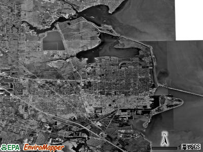 Texas City satellite photo by USGS
