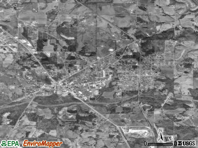 Hanceville satellite photo by USGS