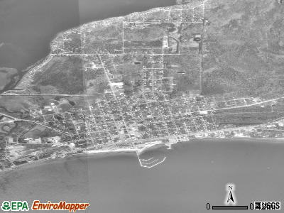 East Tawas satellite photo by USGS