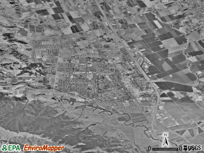 Gilroy satellite photo by USGS