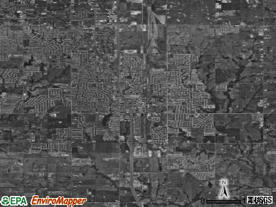 Moore satellite photo by USGS