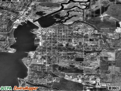 Whitehall satellite photo by USGS