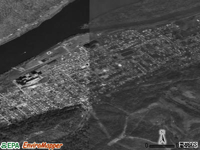 Paden City satellite photo by USGS