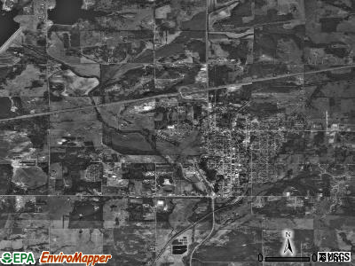 Chandler satellite photo by USGS
