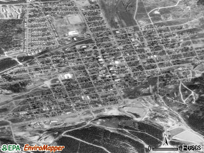 Leadville satellite photo by USGS