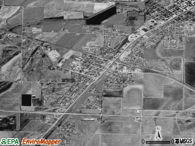 Hoxie satellite photo by USGS