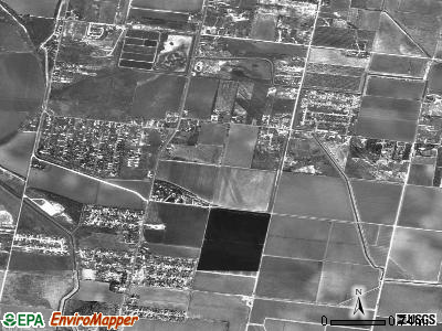 West Bishop satellite photo by USGS