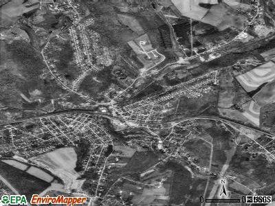 Manor satellite photo by USGS