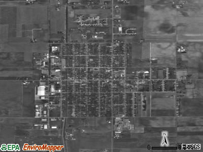 Minster satellite photo by USGS