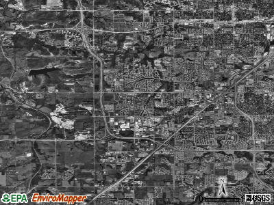 Lenexa satellite photo by USGS