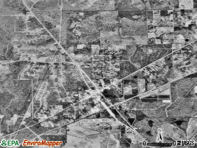 Mauriceville satellite photo by USGS