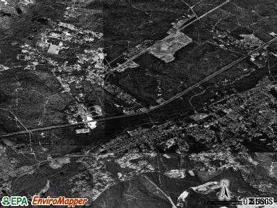 Burnettown satellite photo by USGS