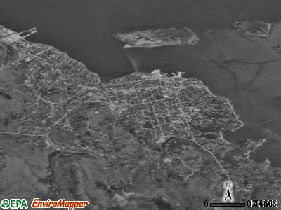 Bar Harbor satellite photo by USGS