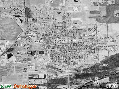 Cass City satellite photo by USGS