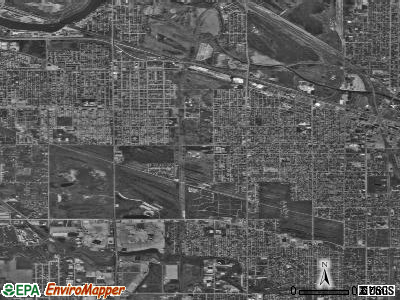 Calumet City satellite photo by USGS