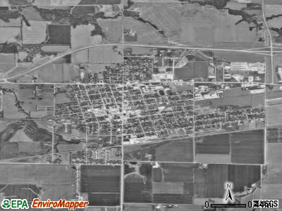 Monroe City satellite photo by USGS