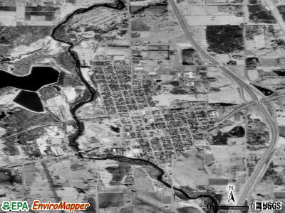Milaca satellite photo by USGS